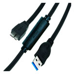 Cable UltraRun USB 3.0 A Micro B SuperSpeed, longitud 6m