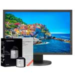Monitor NEC MultiSync PA243W + i1Display Pro + libro