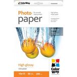 ColorWay Papel fotografico 10x15cm alto brillo 200gr (50 hojas)