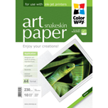 ColorWay papel Art glossy Texture snakeskin A4 230gr (10 hojas)