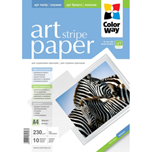ColorWay papel Art glossy Texture stripe A4 230gr (10 hojas)