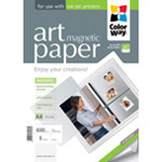 ColorWay papel Art glossy Magnetic A4 690gr (5 hojas)