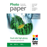 ColorWay papel Dual-Side High Glossy A4 155gr (50 hojas)