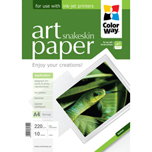 ColorWay papel Art glossy Texture snakeskin A4 220gr (10 hojas)