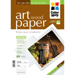 ColorWay papel Art glossy Texture Wood A4 220gr (10 hojas)