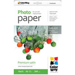 ColorWay papel Premium satinado 10x15 260 gr (50 hojas)