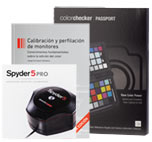 Calibrador Datacolor Spyder 5 PRO + libro calibración + ColorChecker Passport