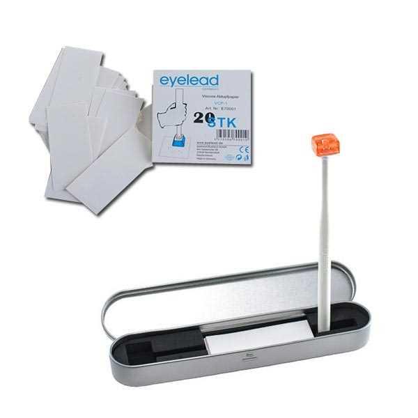 kit de limpieza Eyelead SCK-1 B con bastón y 10 folios + kit de recambios