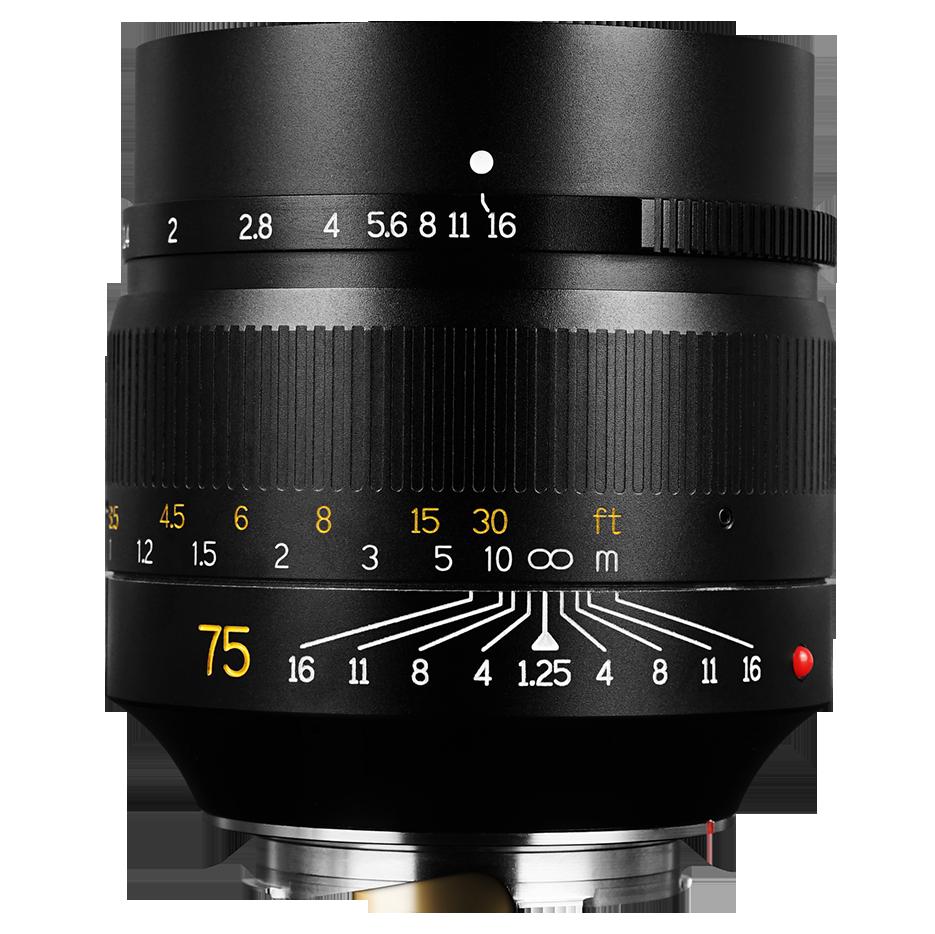 7Artisans 75 mm F1.25 para Leica M negro
