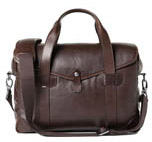 Borsa media - Medium Messenger Bob Cut Dark Brown Leather