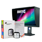 Monitor BenQ SW240 con visera y i1Display Pro