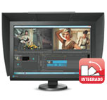 Monitor Eizo Coloredge CG247X con visera y calibrador