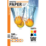 Papel fotografico ColorWay alto brillo 180gr (50 hojas)