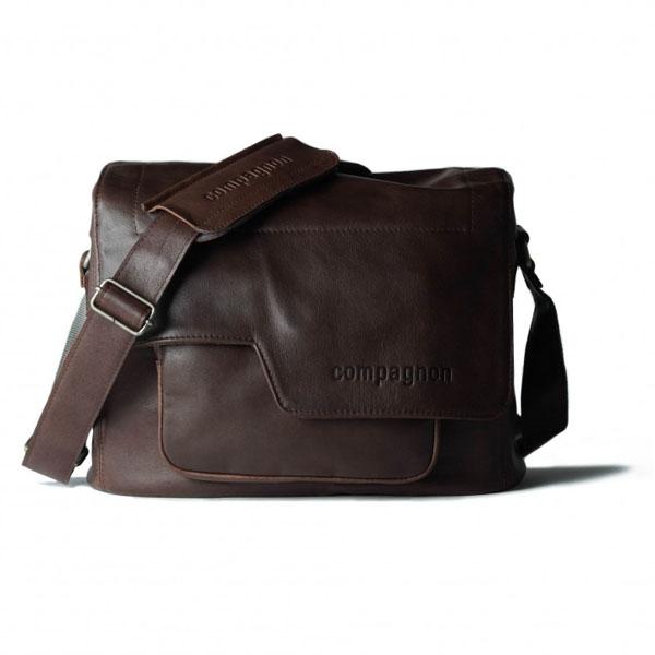 Bolsa Compagnon The medium messenger - marrón oscuro