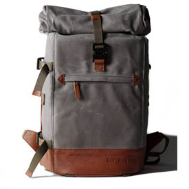 Mochila Compagnon The backpack - gris y marrón