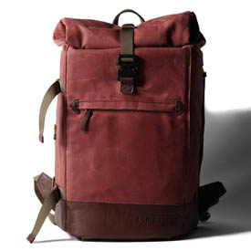 Mochila Compagnon The backpack - rojo y marrón oscuro