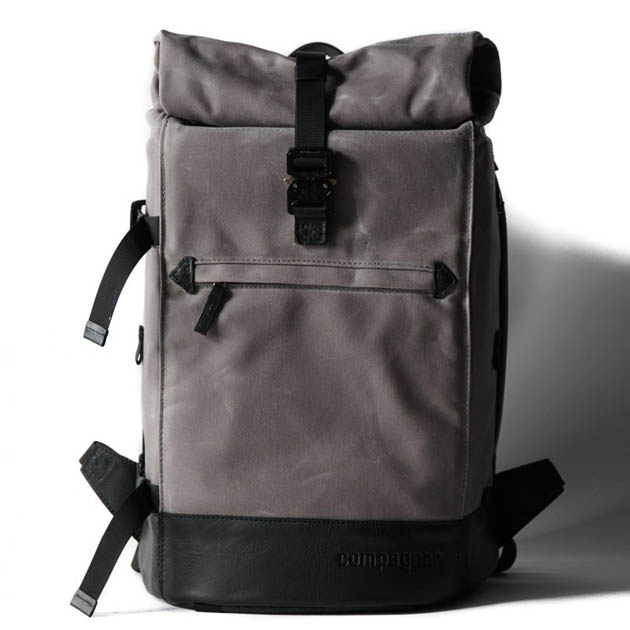 Mochila Compagnon The backpack - gris y negro