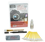 Kit de Alpha 24mm Premium Sensor Swabs 16 ud. con liquido Gamma Optical Cleaning Fluid