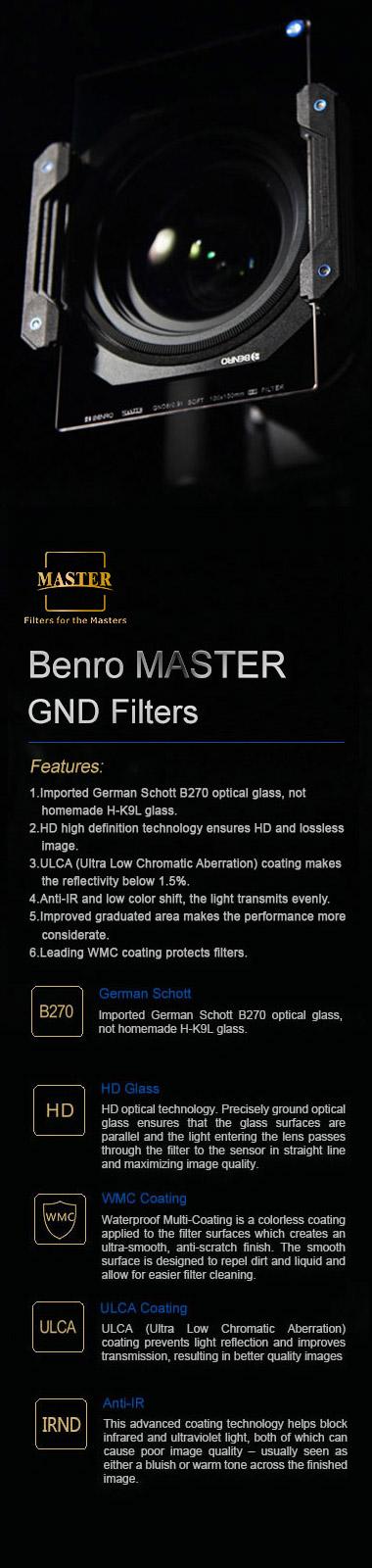 Benro filtros Master