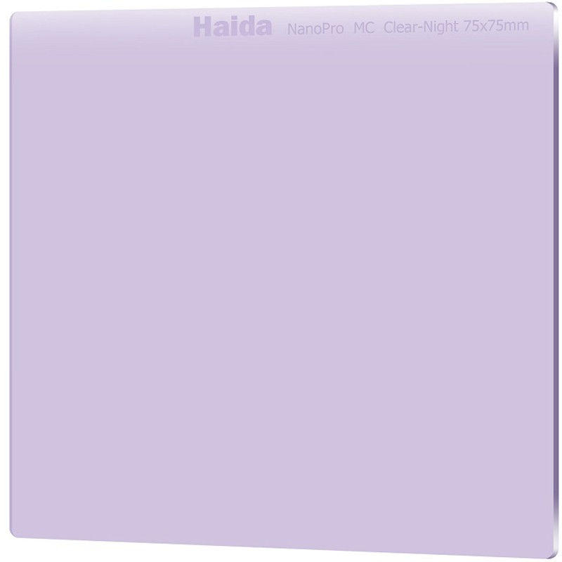 Filtro Haida NanoPro MC Optical Glass Clear-Night 75x75mm