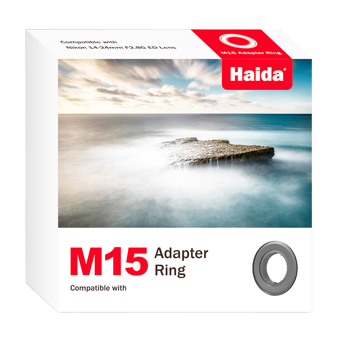 Haida M15 Adapter Ring for Nikon PC 19mm F/4E ED Tilt-Shift Lens