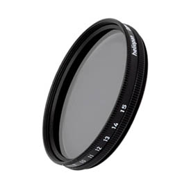 Filtro Heliopan gris VARIABLE densidad ND 0,3 - ND 1,8 de 46 mm