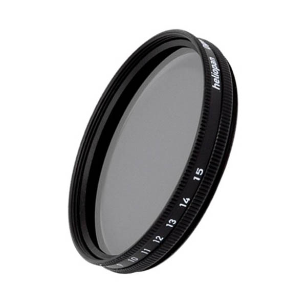 Filtro Heliopan gris VARIABLE densidad ND 0,3 - ND 1,8 de 62 mm