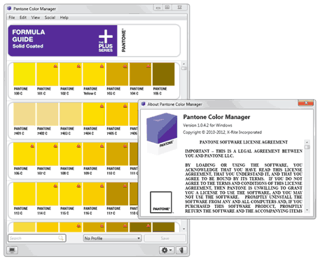 pantone color manager